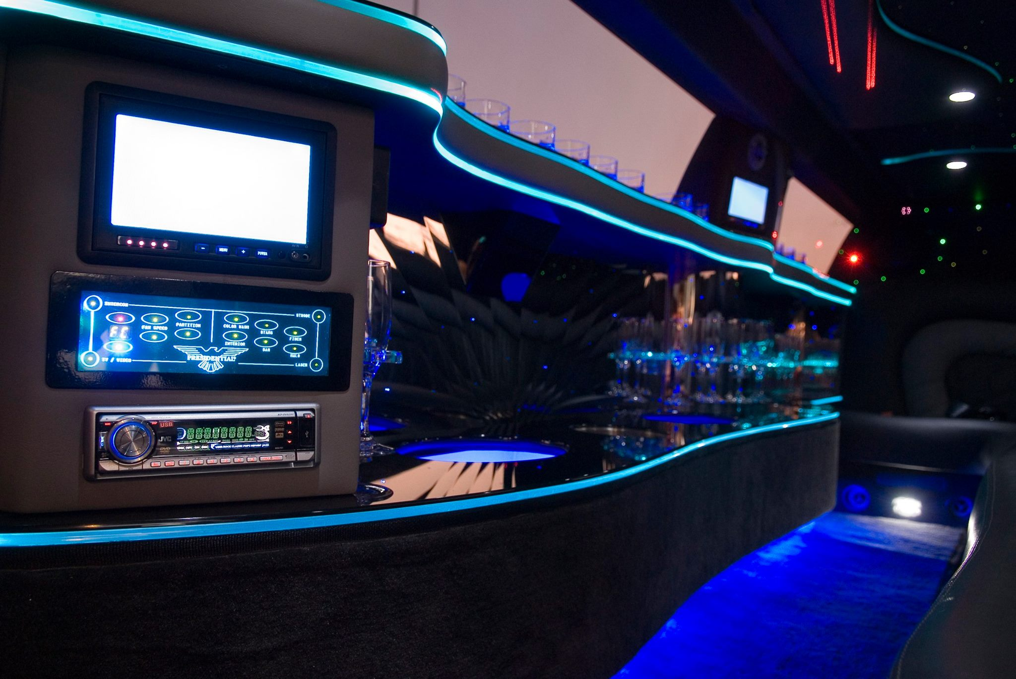 presidential limousine interior perth hire