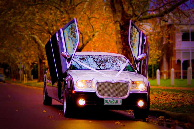 Glamour Limousine Perth-In-Autum - Guildford Grammer Church