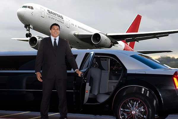 qantas-limo-2 with glamour limousines chauffer driver